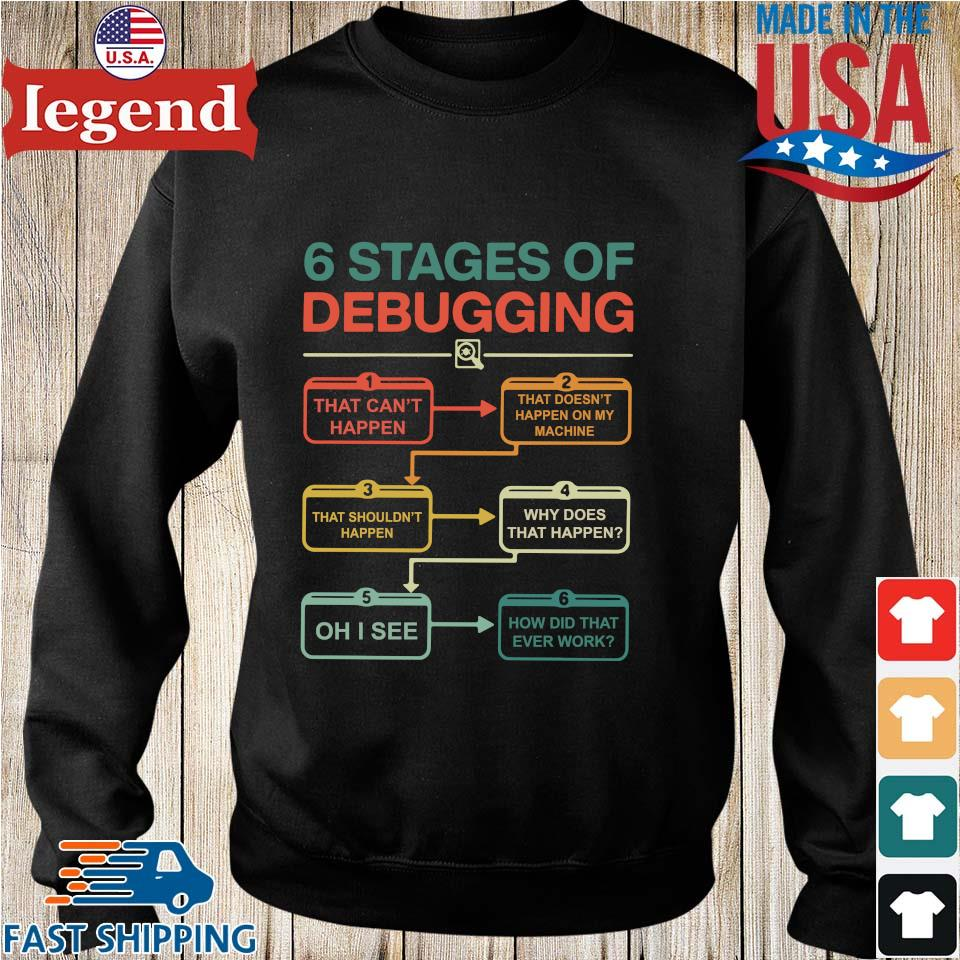 6 Stages Of Debugging Shirt Sweater den