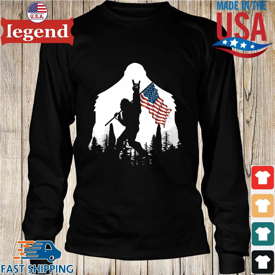 Bigfoot Rock And Roll Silhouette American Flag s Longs den