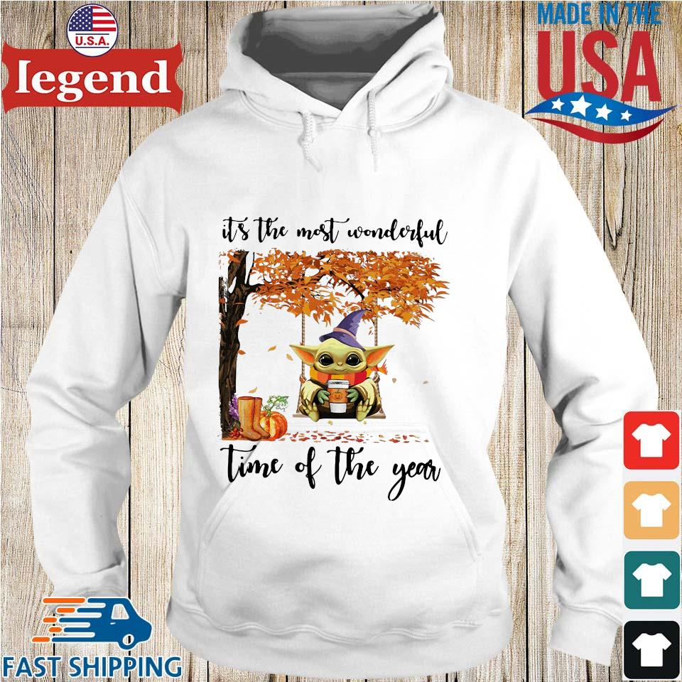 Baby Yoda Halloween it's the most wonderful time of the year s Hoodie trang
