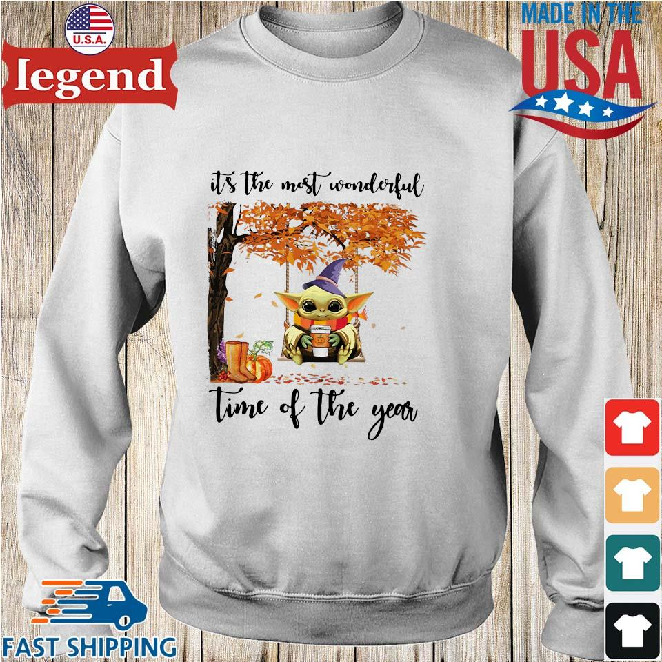 Baby Yoda Halloween it's the most wonderful time of the year s Sweater trang