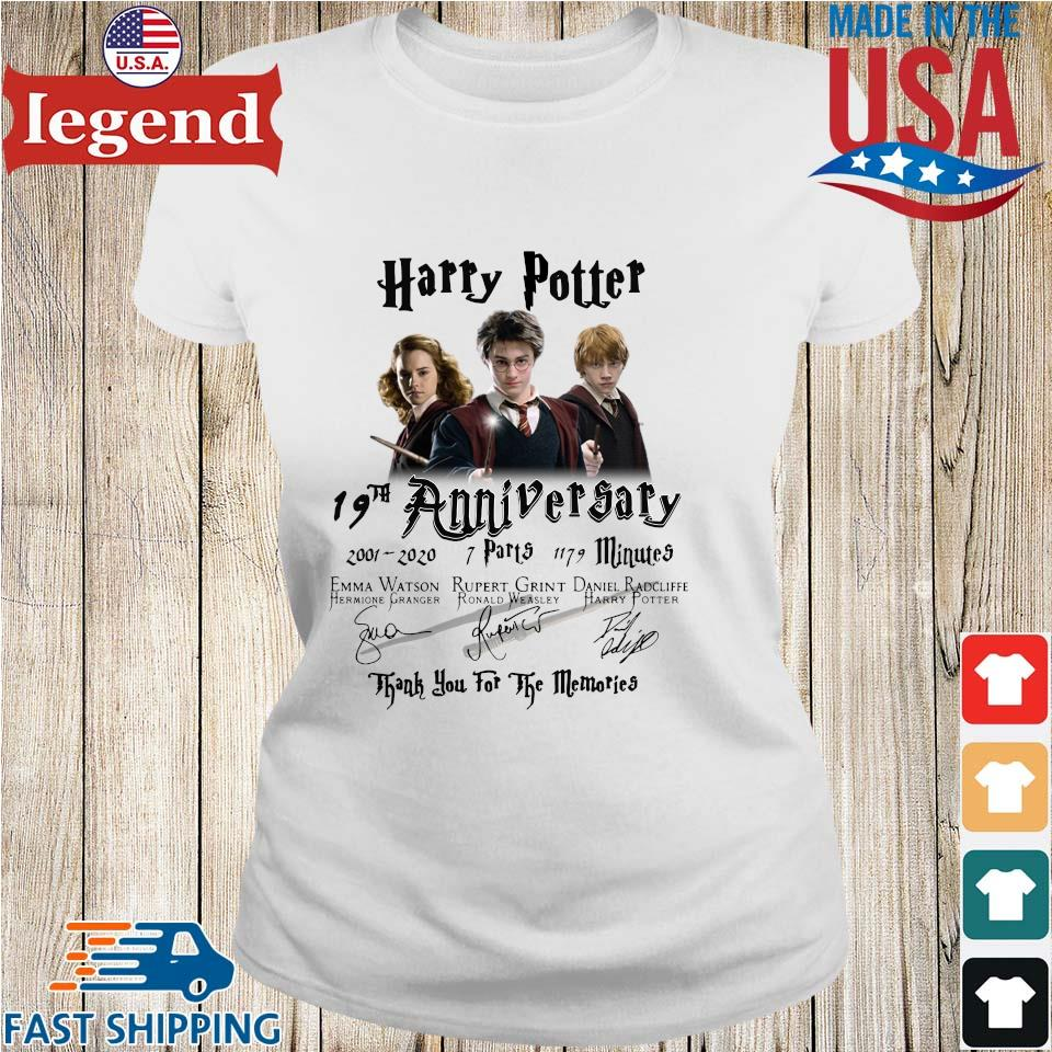 Harry Potter 19th anniversary 2001 2020 thank you for the memories signatures s Ladies trang