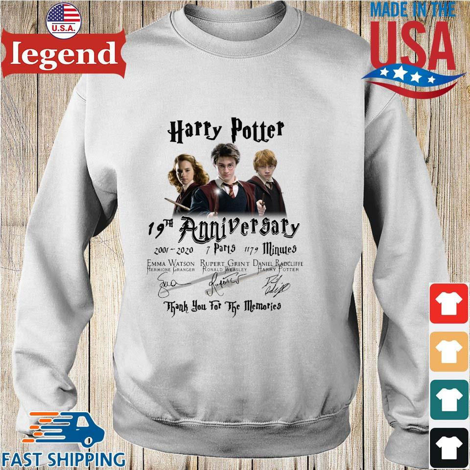 Harry Potter 19th anniversary 2001 2020 thank you for the memories signatures s Sweater trang