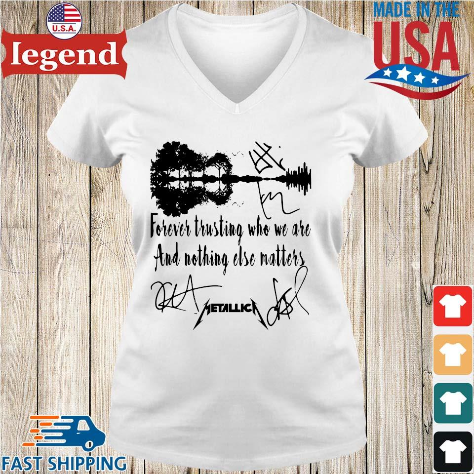 Metallica forever trusting who we are and nothing else matters guitar s Ladies V-Neck