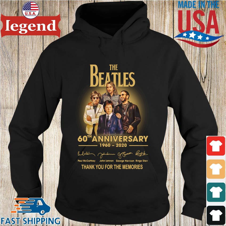 The Beatles 60th anniversary 1960 2020 Paul Mccartney John Lennon thank you for the memories signatures s Hoodie den