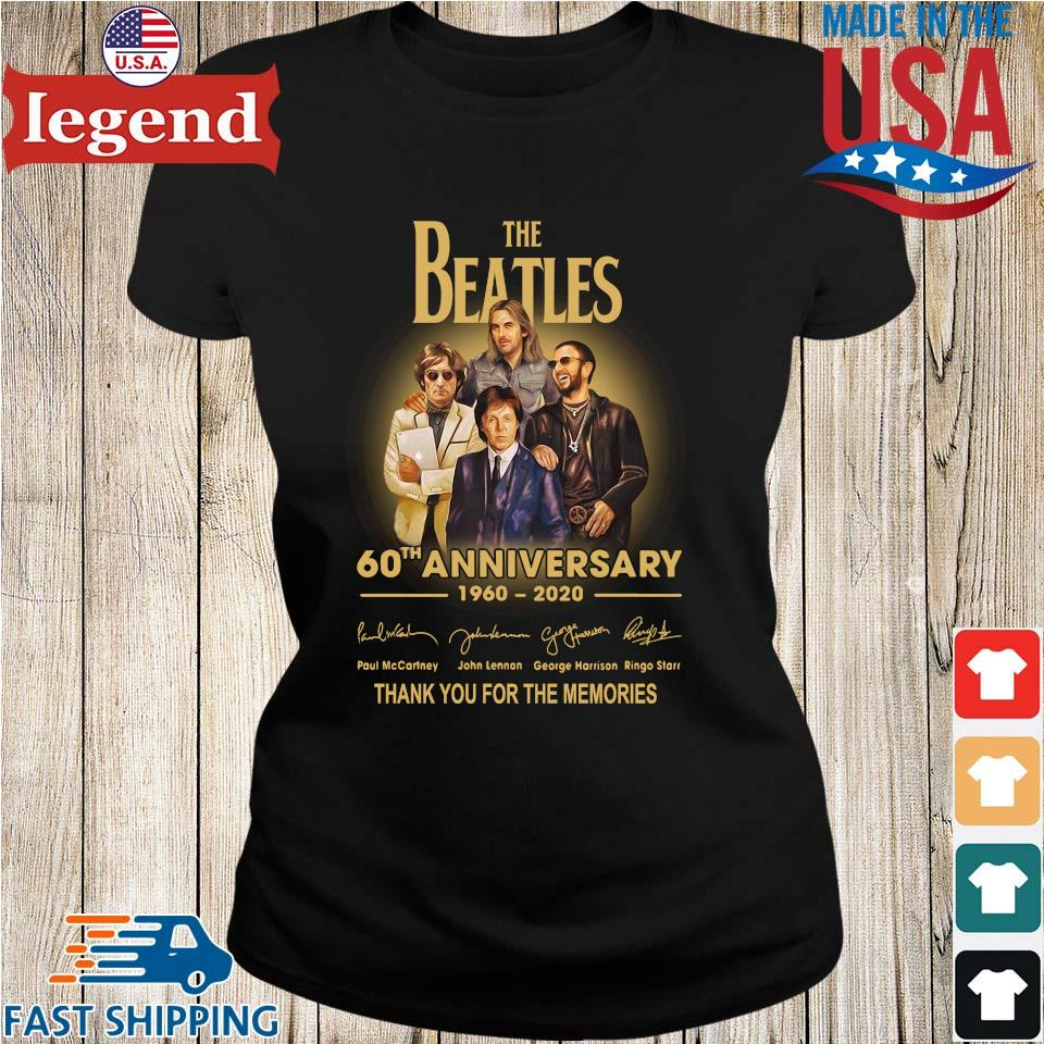 The Beatles 60th anniversary 1960 2020 Paul Mccartney John Lennon thank you for the memories signatures s Ladies den