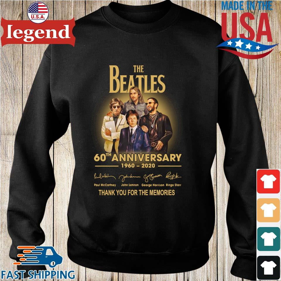 The Beatles 60th anniversary 1960 2020 Paul Mccartney John Lennon thank you for the memories signatures s Sweater den
