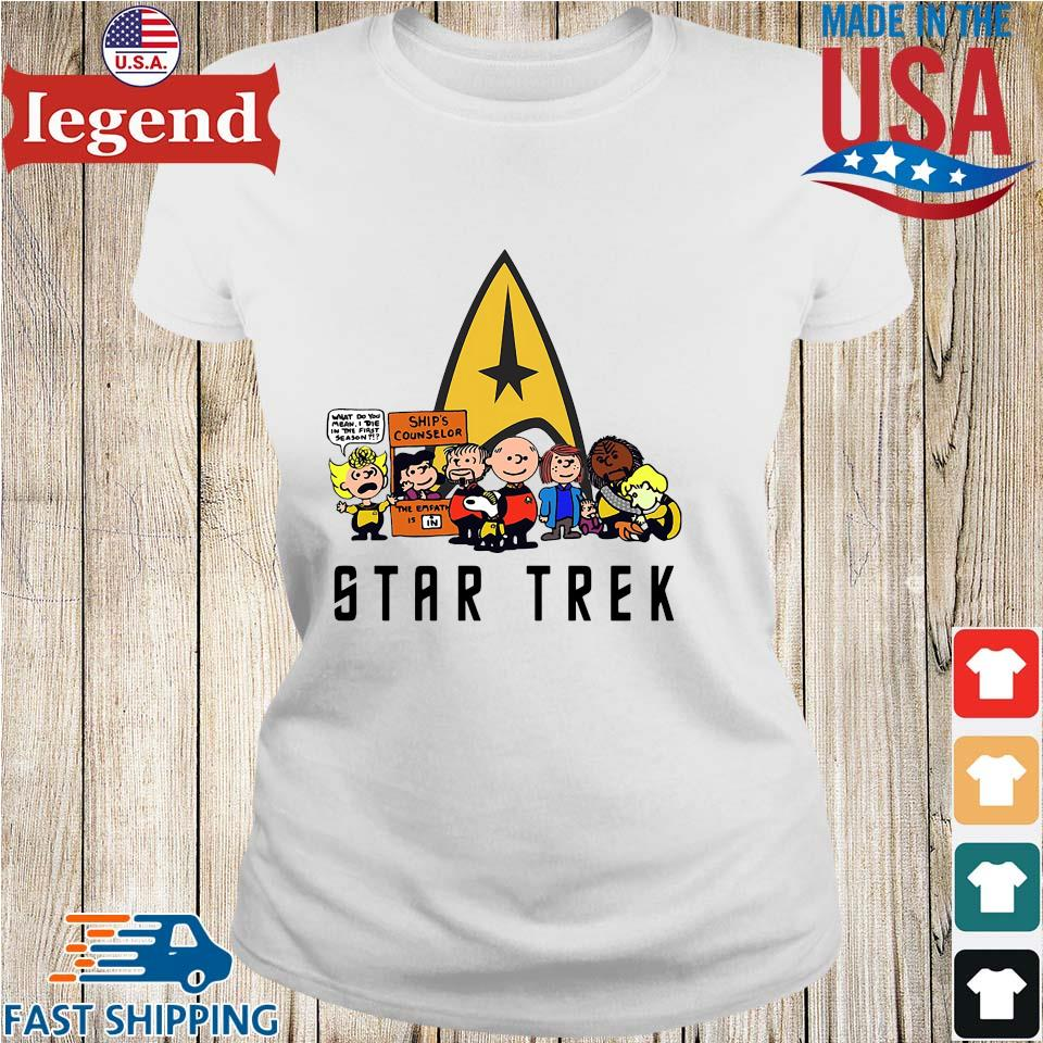 The peanuts Snoopy Charlie with friends star trek s Ladies trang