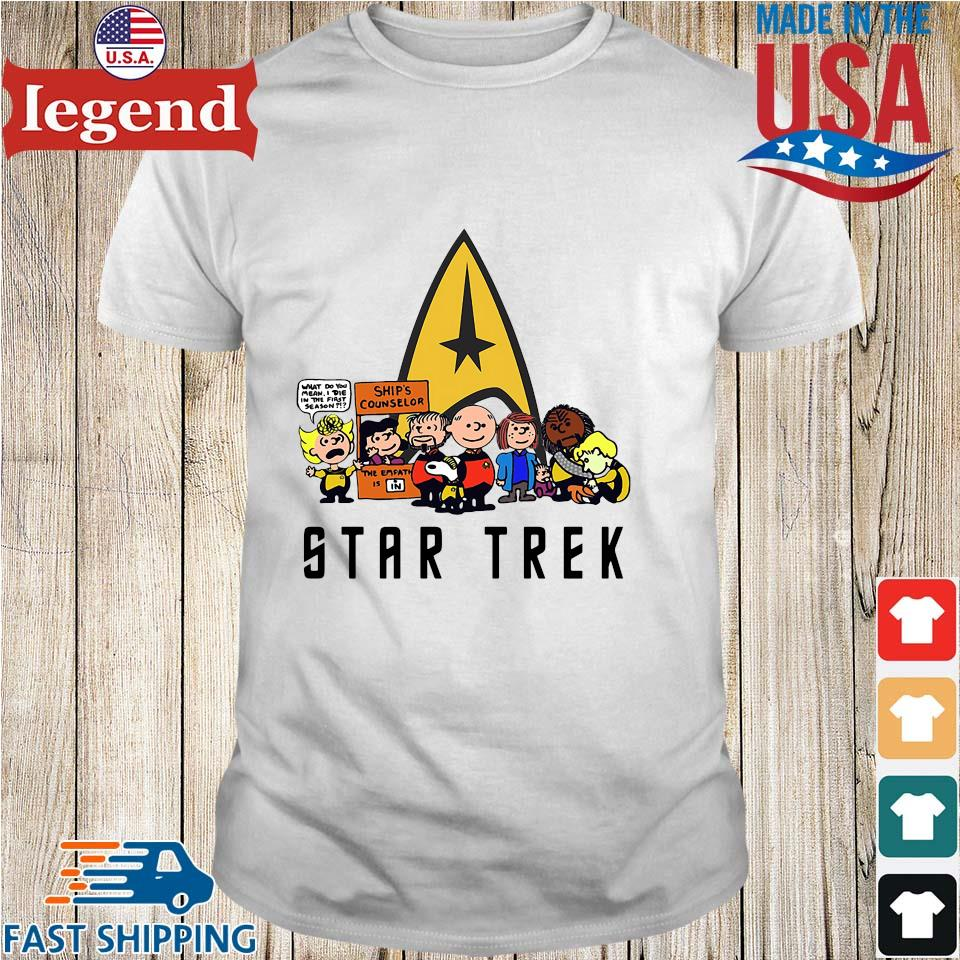 The peanuts Snoopy Charlie with friends star trek shirt