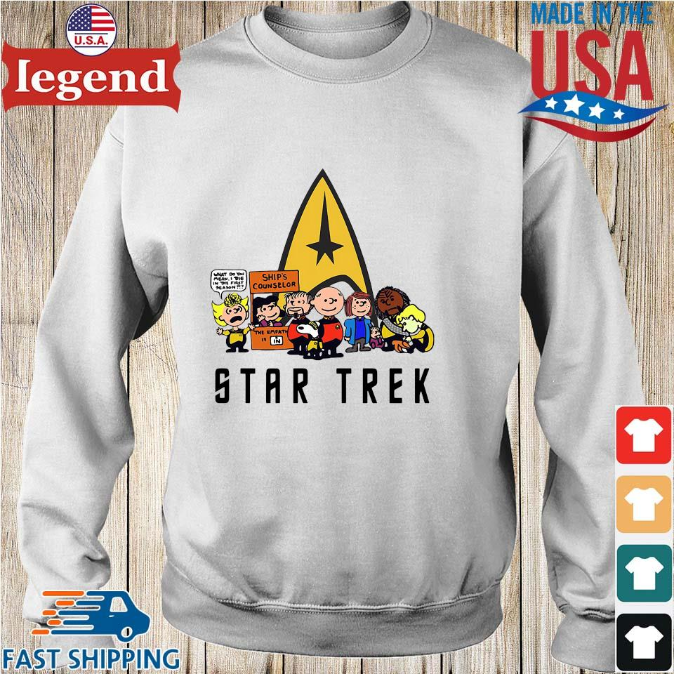 The peanuts Snoopy Charlie with friends star trek s Sweater trang