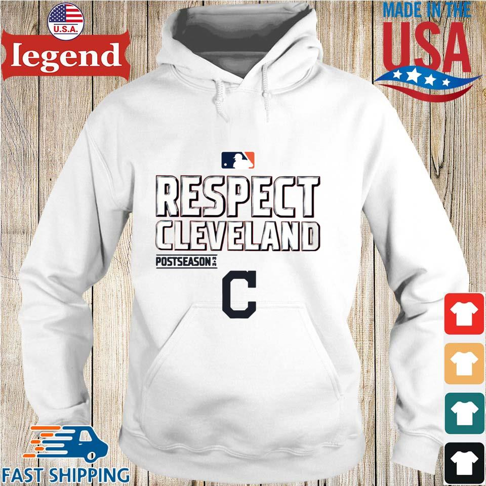 Respect Cleveland Indians Fanatics Branded Red 2020 postseason s Hoodie trang