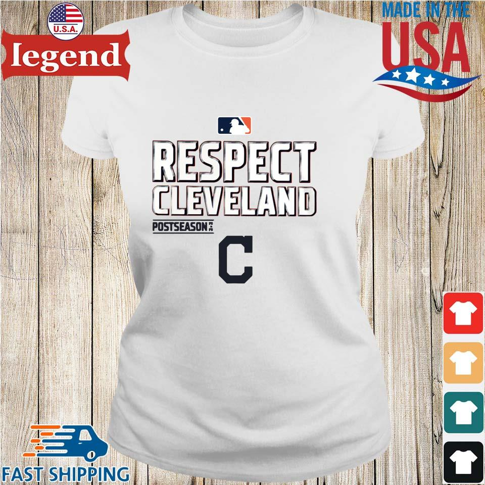 Respect Cleveland Indians Fanatics Branded Red 2020 postseason s Ladies trang