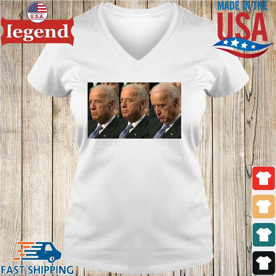 Sleepy Joe Biden Political Shirt Ladies V-Neck