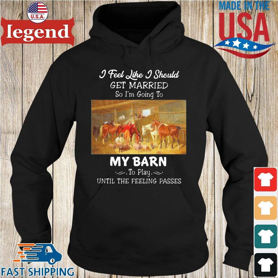Horses I feel like I should get married so I'm going to my barn to play until the feeling passes Hoodie den-min