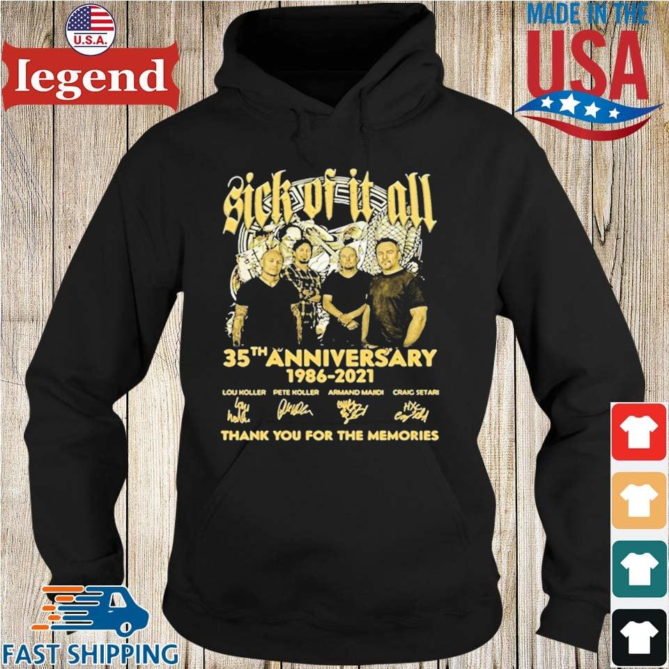 Sick Of It All 35th Anniversary 1986 2021 Thank You For The Memories Signature Shirt Hoodie den-min