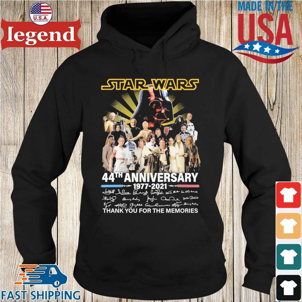 Star Wars 44th anniversary 1977-2021 thank you for the memories signatures Hoodie den-min