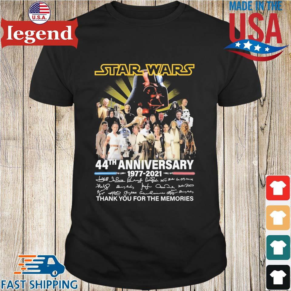 Star Wars 44th anniversary 1977-2021 thank you for the memories signatures shirt