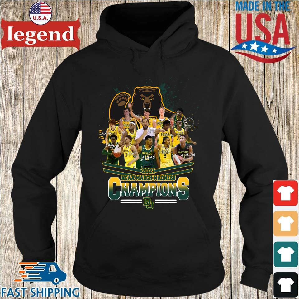 2021 NCAA March Madness Champions Baylor University Signatures Hoodie den-min