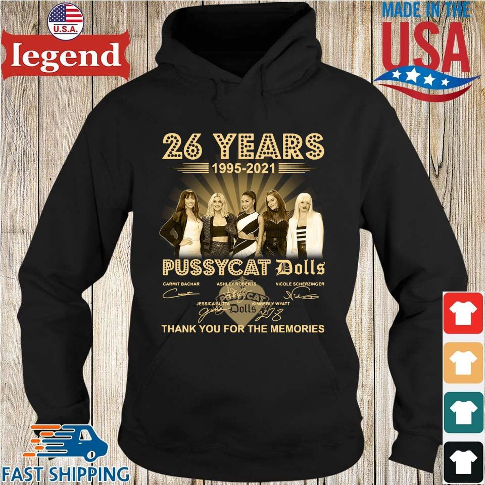 26 years 1995-2021 Pussycat Dolls thank you for the memories signatures Hoodie den-min