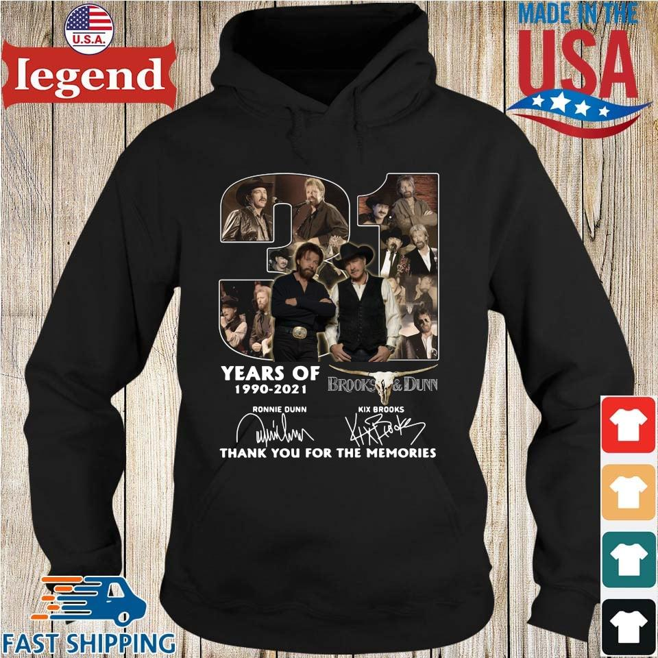 31 Years Of 1990 2021 Brooks And Dunn Signatures Thank You Shirt Hoodie den-min