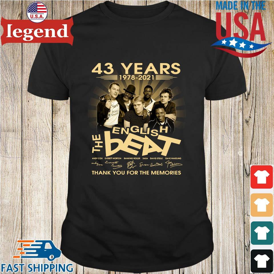 43 Years 1978 2021 English The Best Signatures Thank You Shirt