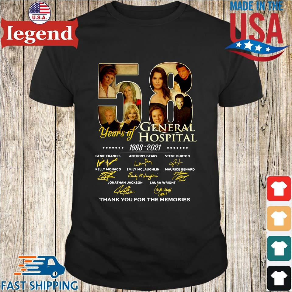 58 years of General Hospital 1963-2021 thank you for the memories signatures shirt