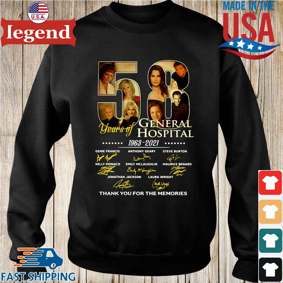 58 years of General Hospital 1963-2021 thank you for the memories signatures Sweater den-min