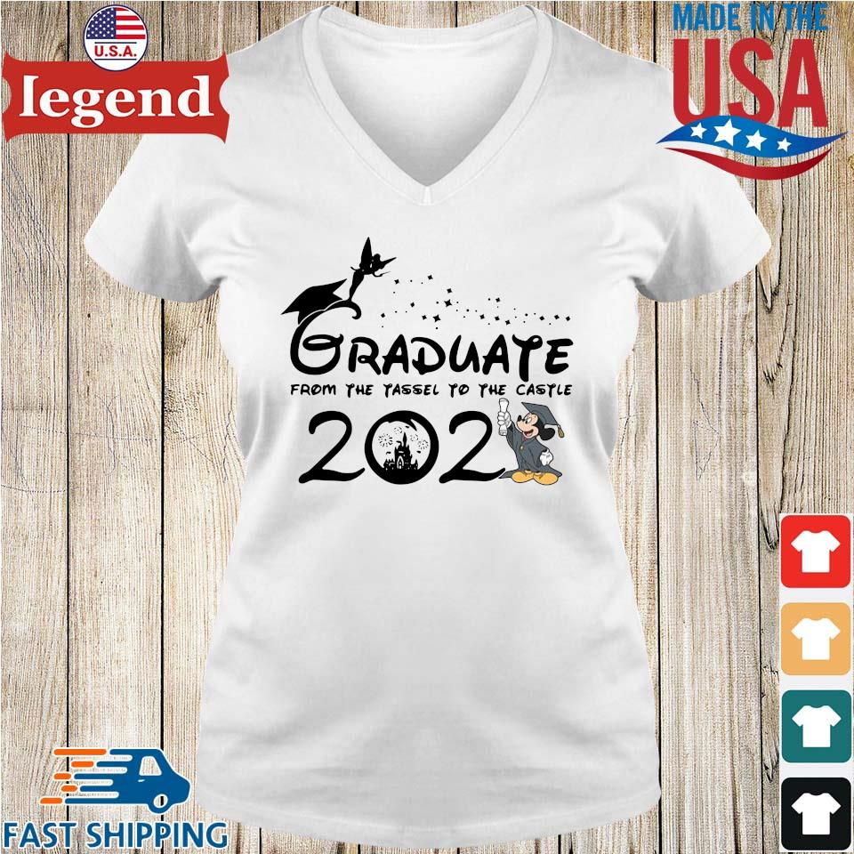 Graduate from the tassel to the castle 2021 Ladies V-Neck-min