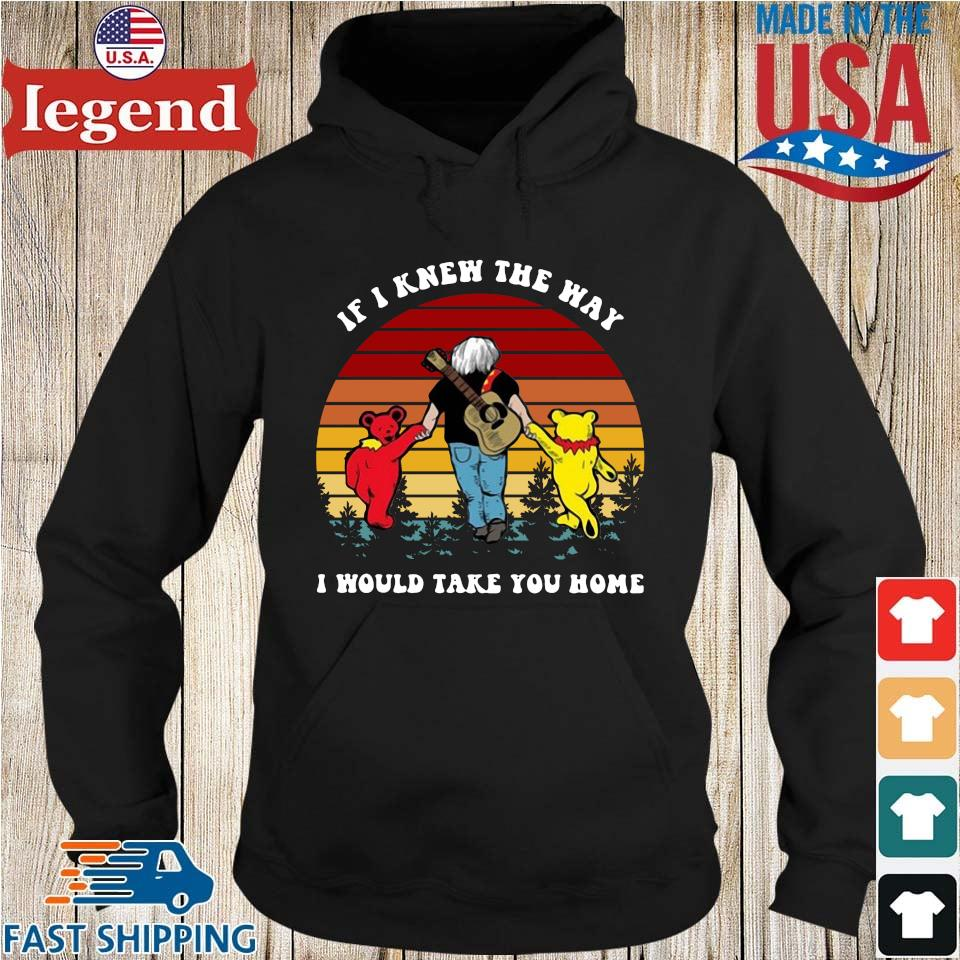 Grateful Bear if I knew the way I would take you home vintage Hoodie den-min