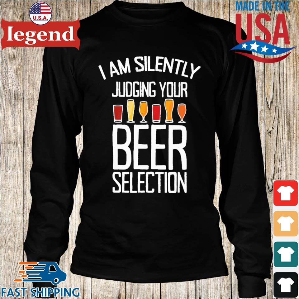 I am silently judging your beer selection Longs den-min