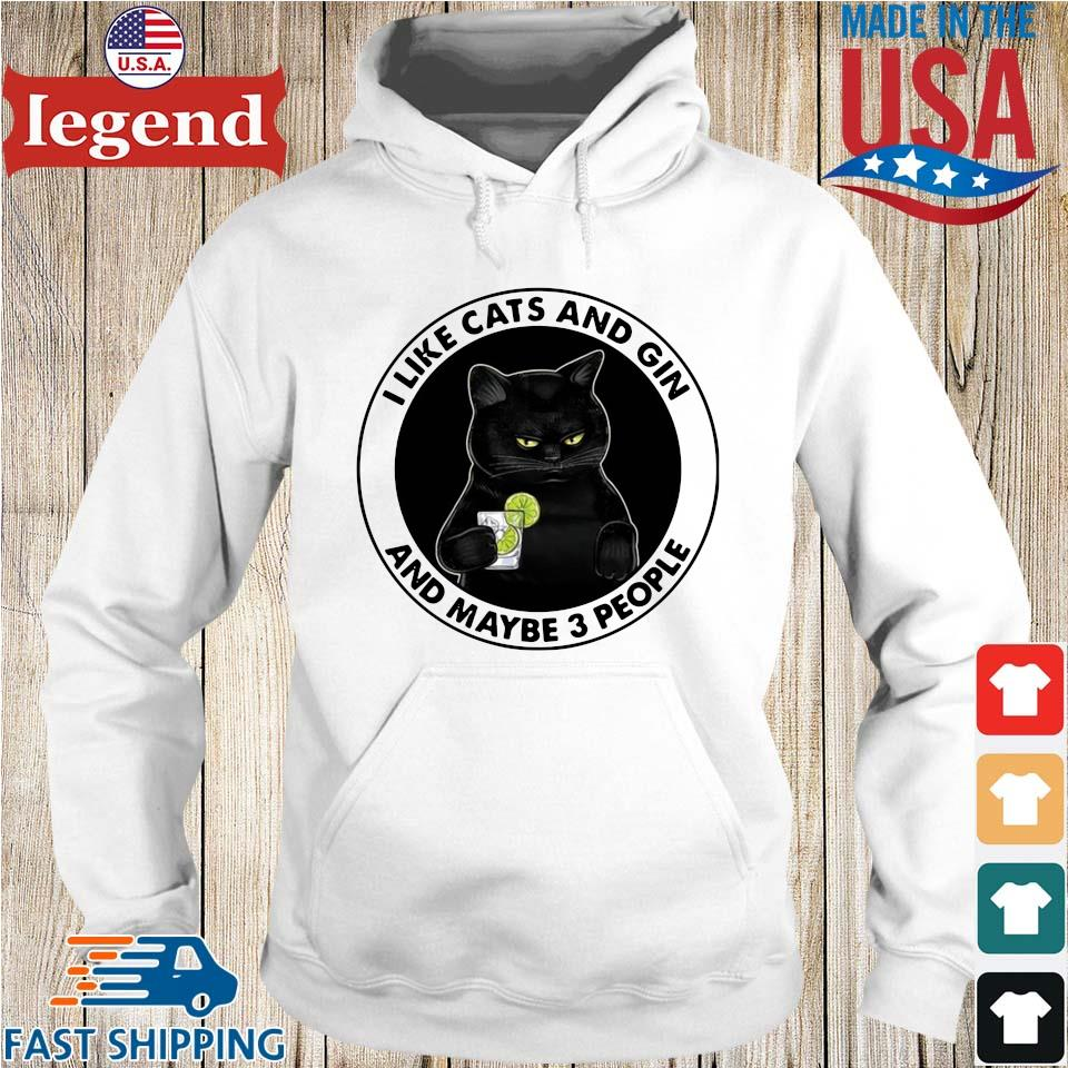 Official I like cats and gin and maybe 3 people Hoodie trang-min