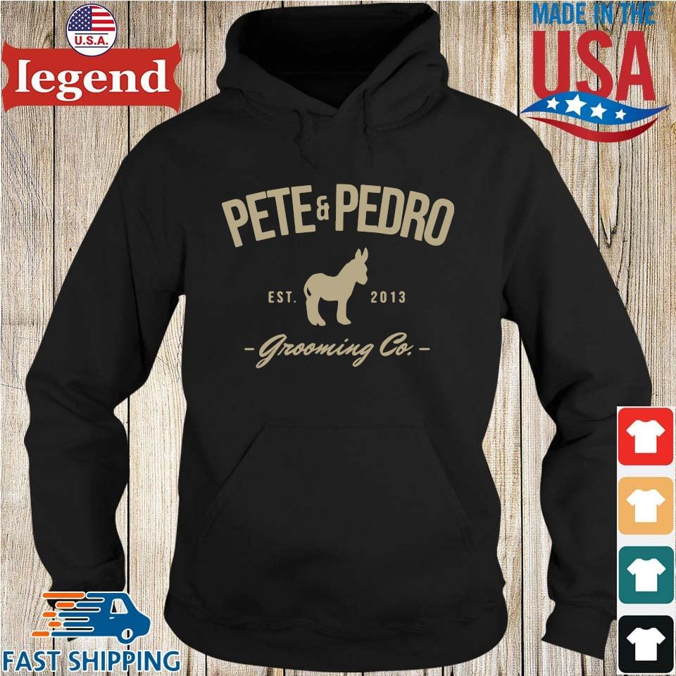 Pete and pedro est 2013 grooming co Hoodie den-min