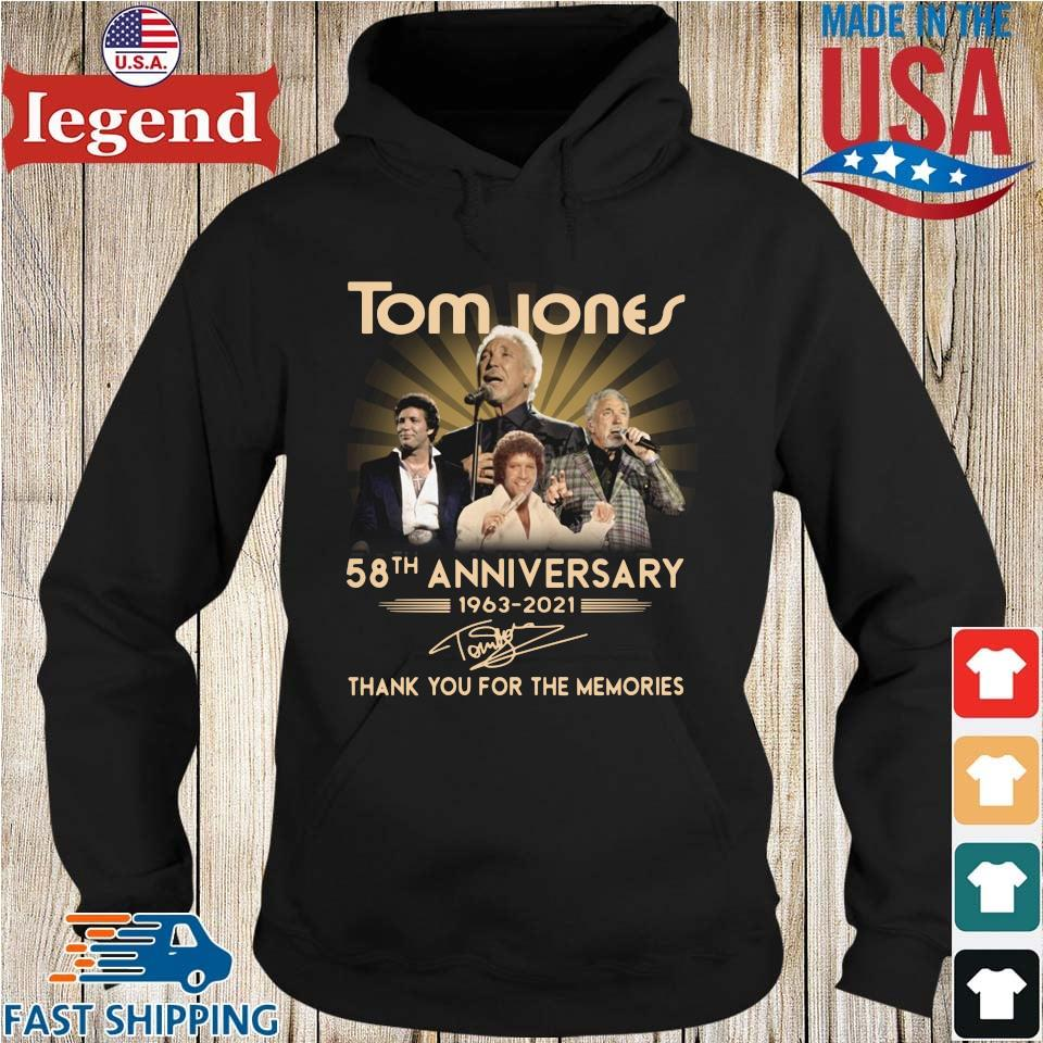 Tom Jones 58th anniversary 1963-2021 thank you for the memories signature Hoodie den-min