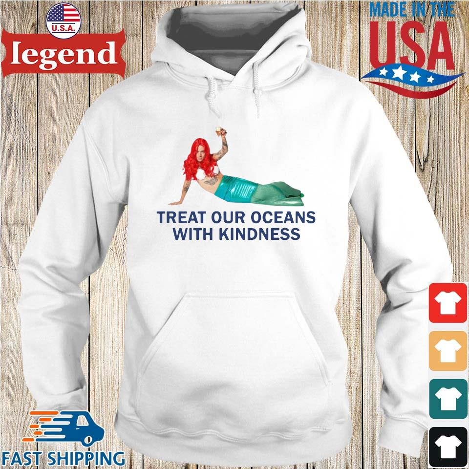 Treat our oceans with kindness Hoodie trang-min