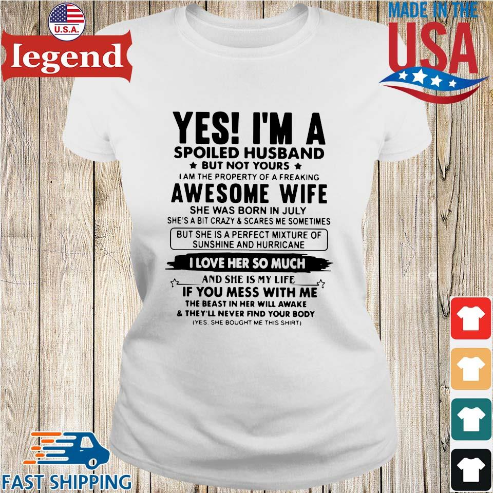 Yes I'm a spoiled husband but not yours I am the property of a freaking awesome wife Ladies trang-min