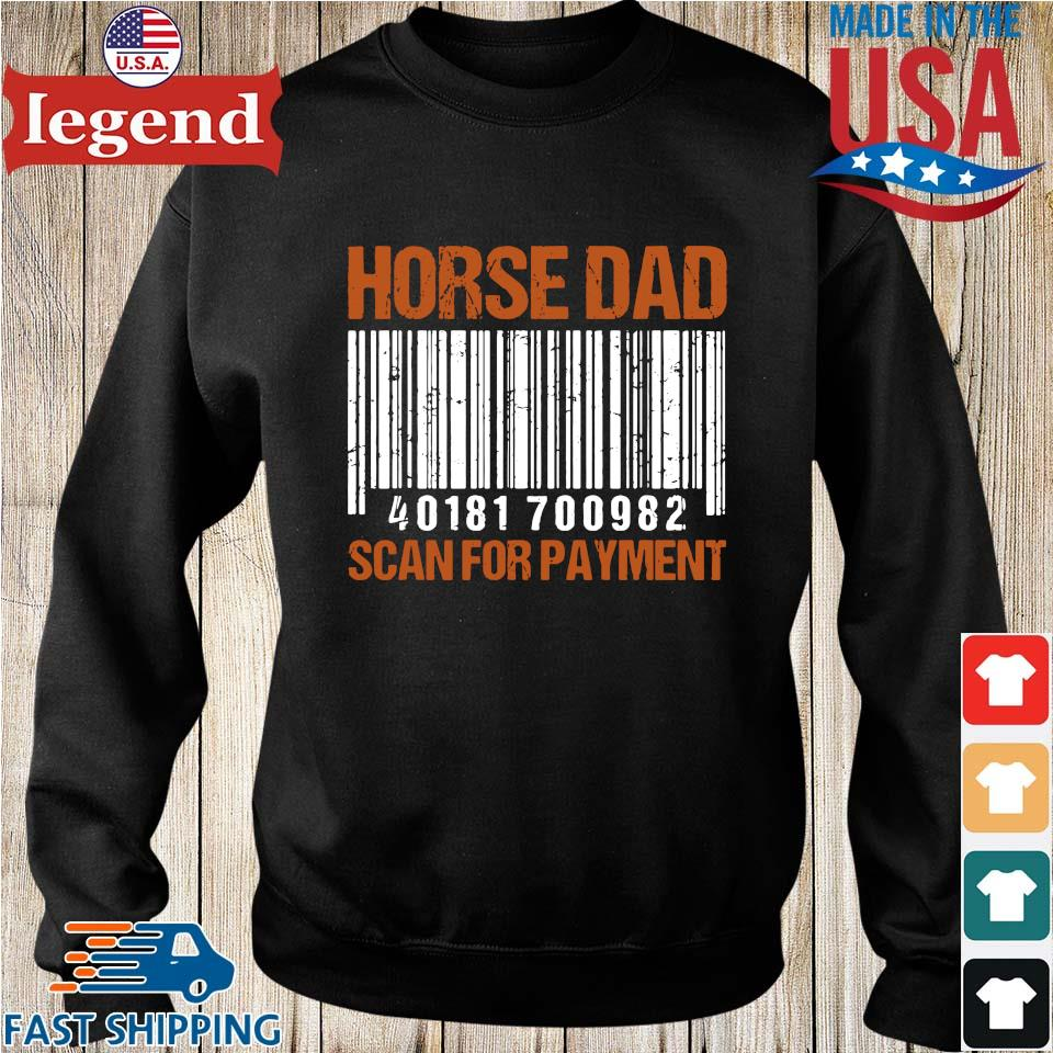Horse dad scan for payment Sweater den-min
