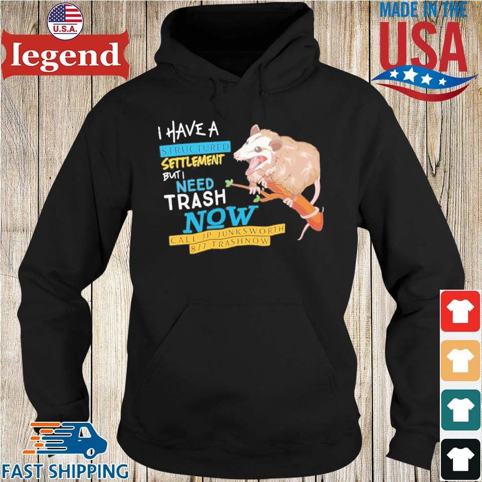 Possum I Have A Structured Settlement But I Need Trash Now Shirt Hoodie den-min