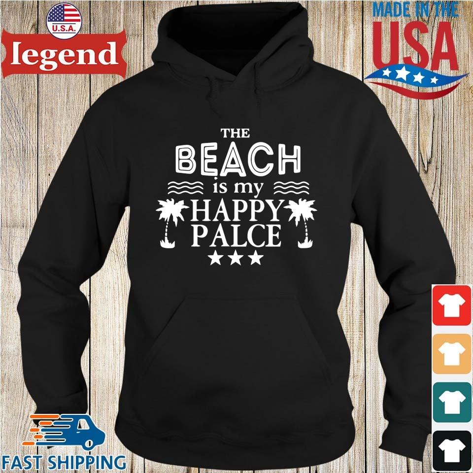 The Beach Is My Happy Place Shirt Hoodie den-min
